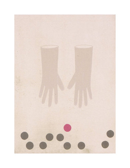 Reach Kristen Martinic Etching two gloves hands reaching objects balls circles etiching