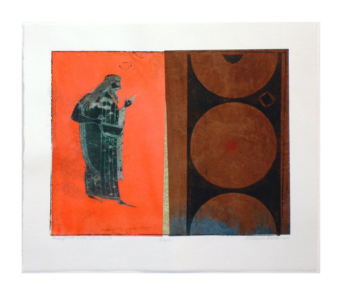 Sage suzanne benton monotype the print center collage circles prange chine Colle