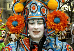 Mummer: Man with Orange Flowers