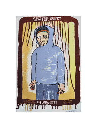 Little Kid Hands Ben Woodward silkscreen the print center portrait boy hoodie