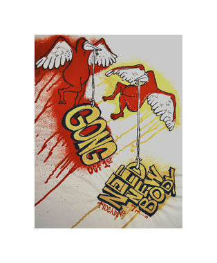 Need New Body / Gong Ben Woodward Silkscreen made in philadelphia the print center birds red drip wings