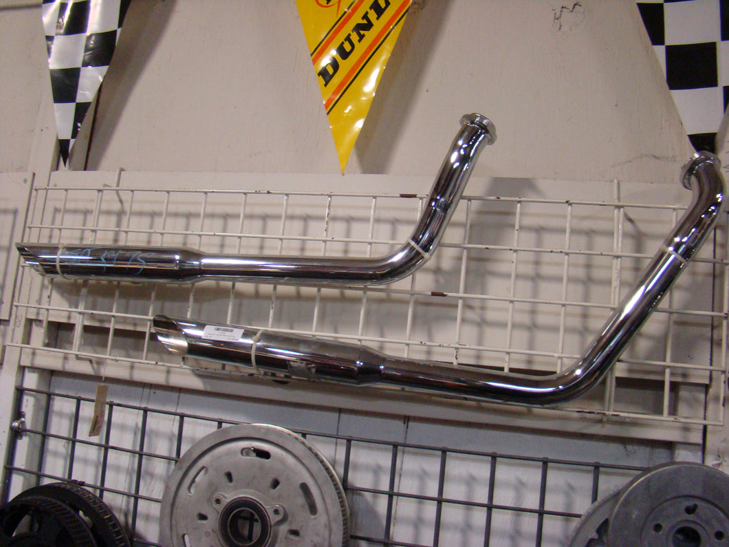 Krome Werks Softail Exhaust - Used-Harley-Davidson-Parts