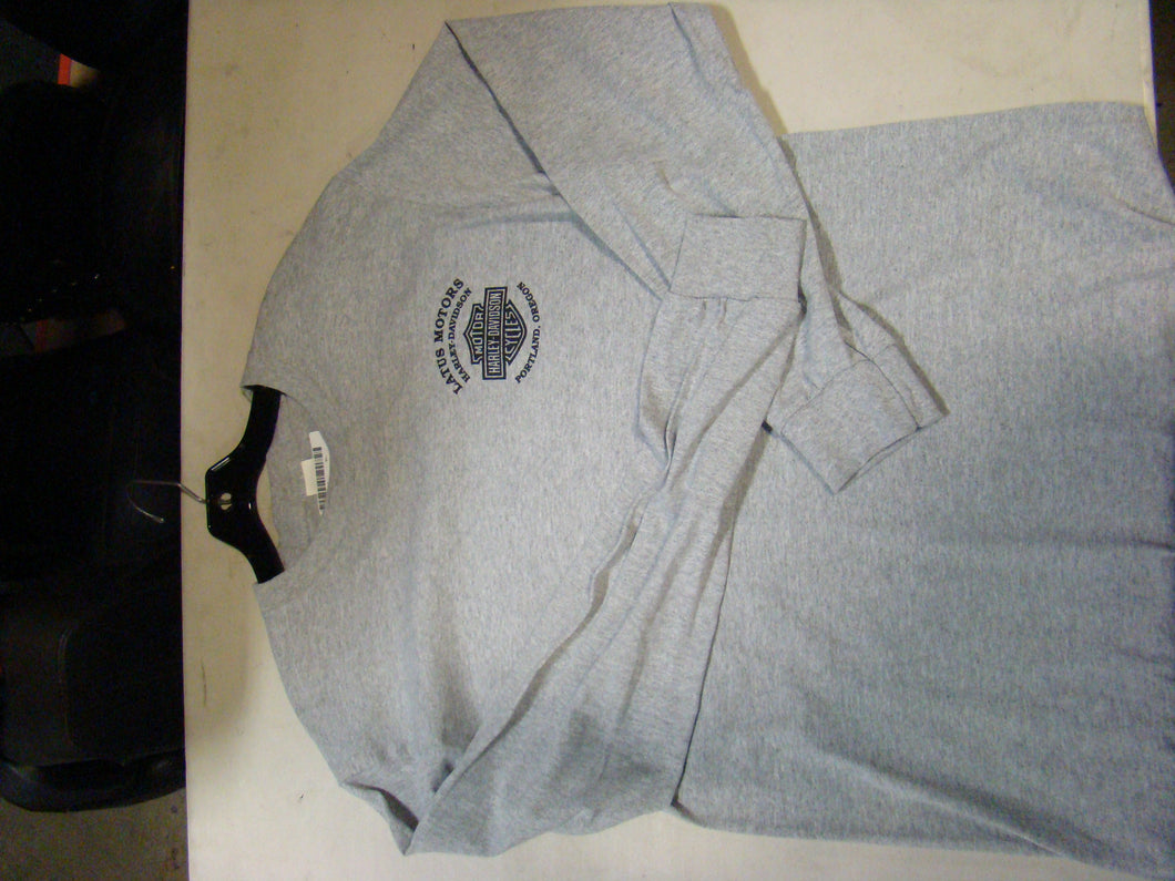 Latus Motors Long Sleeve Tee- Gray (2XL) - Used-Harley-Davidson-Parts