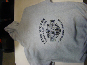 Latus Motors Pullover Sweater- Gray w/Black( Large) - Used-Harley-Davidson-Parts