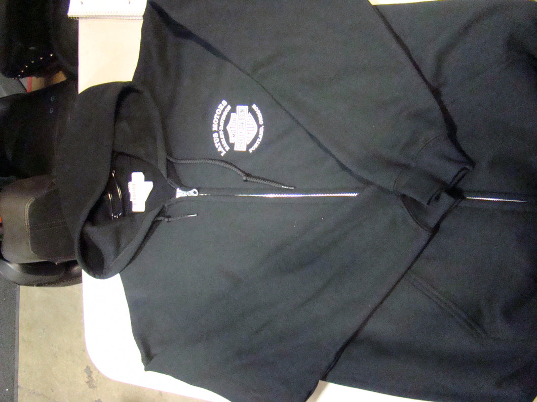 Latus Motors Sweater w/ Zipper- Black (Large) - Used-Harley-Davidson-Parts