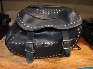 Studded Softail HD Saddlebags - Used-Harley-Davidson-Parts