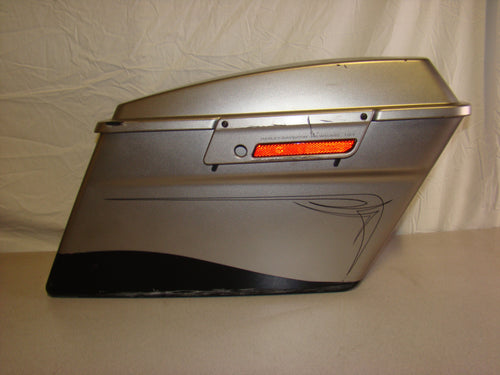 Used Harley-Davidson Right Side Saddlebag with Lid -Touring - Matte Silver