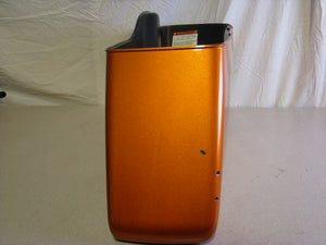 Late Model Touring HD Saddlebag - Right - Amber with Black - Used-Harley-Davidson-Parts