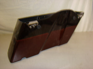 Used Harley-Davidson Saddlebag - Red and Root Beer