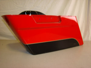 Used Harley-Davidson Saddlebag - Left - Red and Black