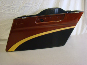 Used Harley-Davidson Touring Saddlebag Right - Amber and Black