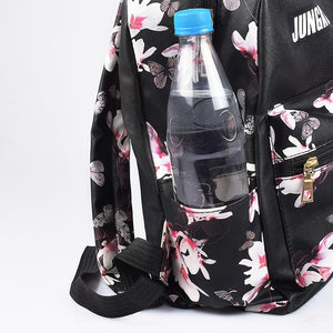 BTS Korean Style Floral Design Student Backpack / School Bag