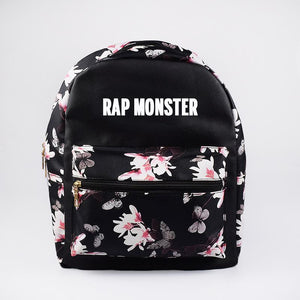 BTS Korean Style Floral Design Student Backpack / School Bag  575843425328#3785823341076
