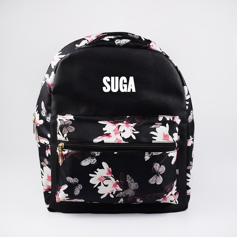 BTS Korean Style Floral Design Student Backpack / School Bag  575843425328#3785823341077