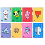 BTS BT21 A4 Three-Layered File / Folder w/ Multiple Designs