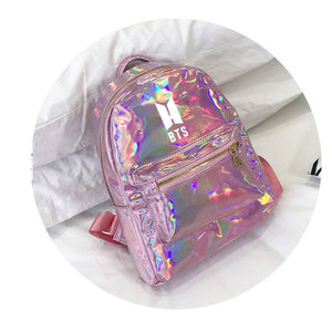 BTS Korean Style Reflective Laser Backpack / School Bag in 2 Colours and 3 Designs 582571304123#3915175557885