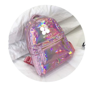 BTS Korean Style Reflective Laser Backpack / School Bag in 2 Colours and 3 Designs 582571304123#3915175557883