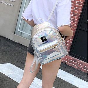 BTS Korean Style Reflective Laser Backpack / School Bag in 2 Colours and 3 Designs 582571304123#3915175557886