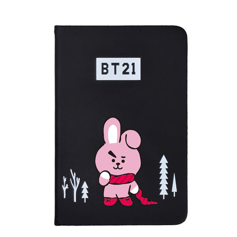 BTS BT21 Christmas Edition Characters Black Frosted Notebook with Bookmark 585417519671#3961693333822