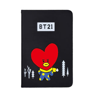 BTS BT21 Christmas Edition Characters Black Frosted Notebook with Bookmark 585417519671#3961693333827