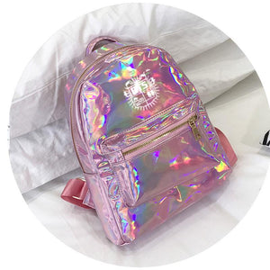 BTS Korean Style Reflective Laser Backpack / School Bag in 2 Colours and 3 Designs 582571304123#3915175557884