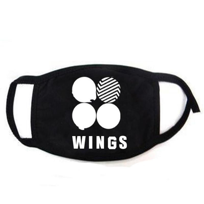 BTS Wings Album Black Mouth Mask