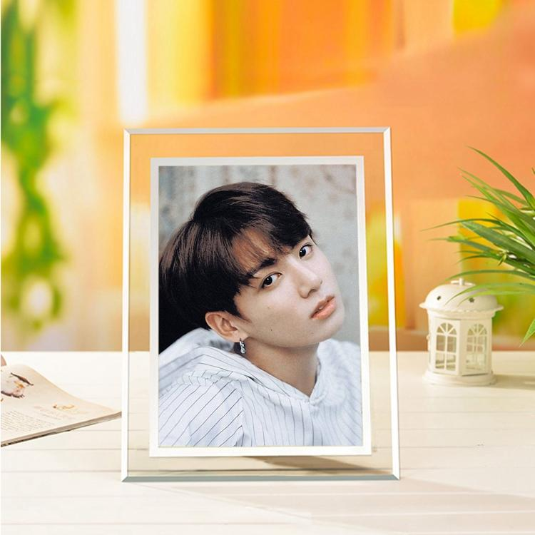BTS Jungkook Korean-Style Crystal 5x7 Photo Frame w/ Multiple Designs
