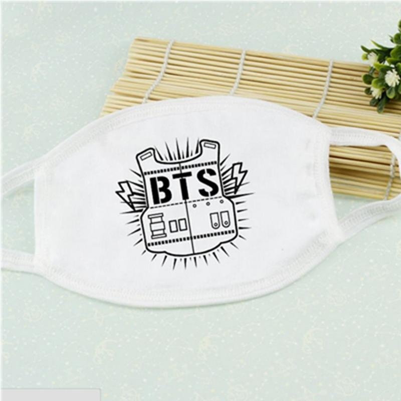 BTS Black and White Mouth Mask w/ Multiple Designs