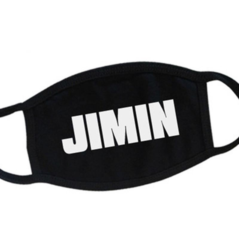 BTS All Members Name Black Mouth Mask