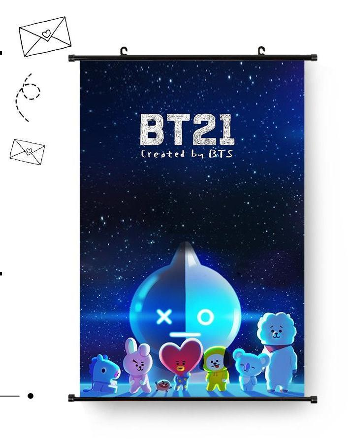 BTS BT21 60*40cm Big Hanging Poster / Wall Scroll