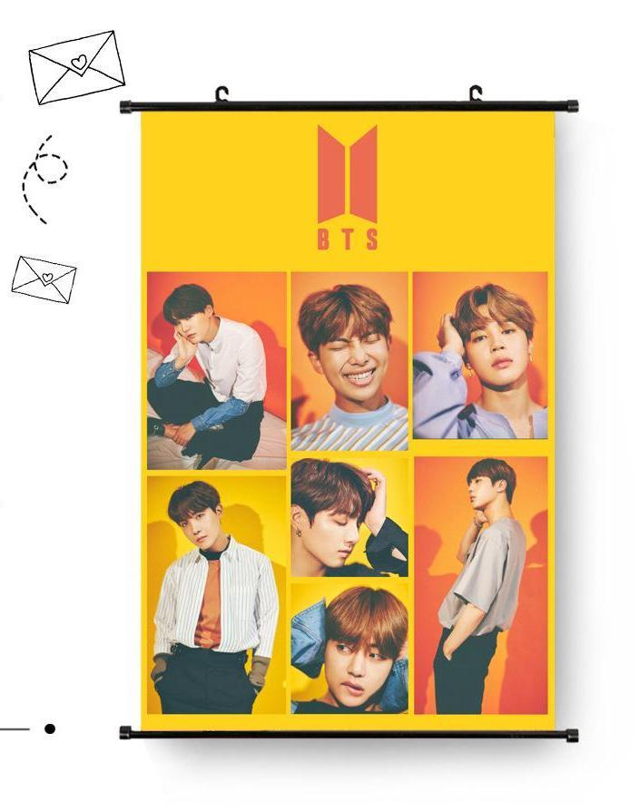BTS 60*40cm Orange Big Hanging Poster / Wall Scroll