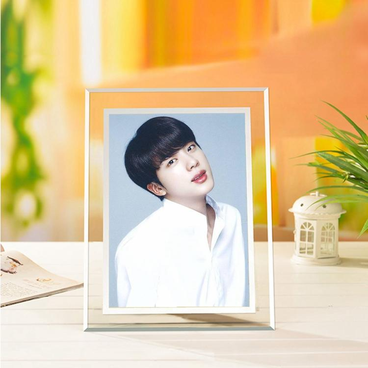 BTS Jin Korean-Style Crystal 5x7 Photo Frame w/ Multiple Designs