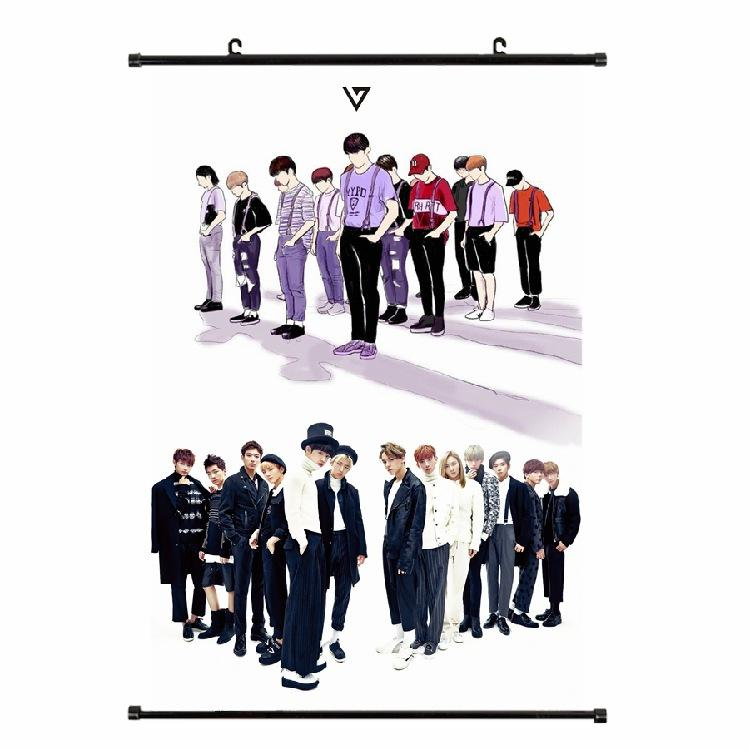 SEVENTEEN 60*40cm Big Hanging Poster / Wall Scroll
