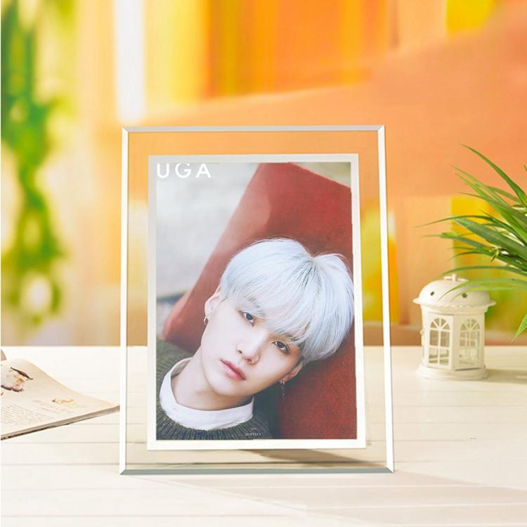 BTS Suga Korean-Style Crystal 5x7 Photo Frame w/ Multiple Designs
