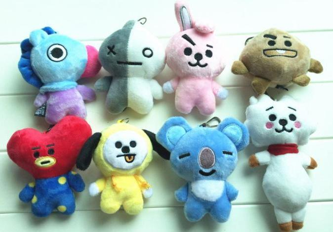 BTS BT21 Full Body Character Plushie Keychain w/ Multiple Designs