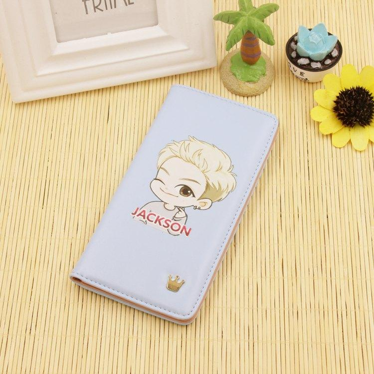 Bigbang/GOT7/iKON Cartoon-Inspired Long Wallet w/ Multiple Designs  550288661573#3516808974006