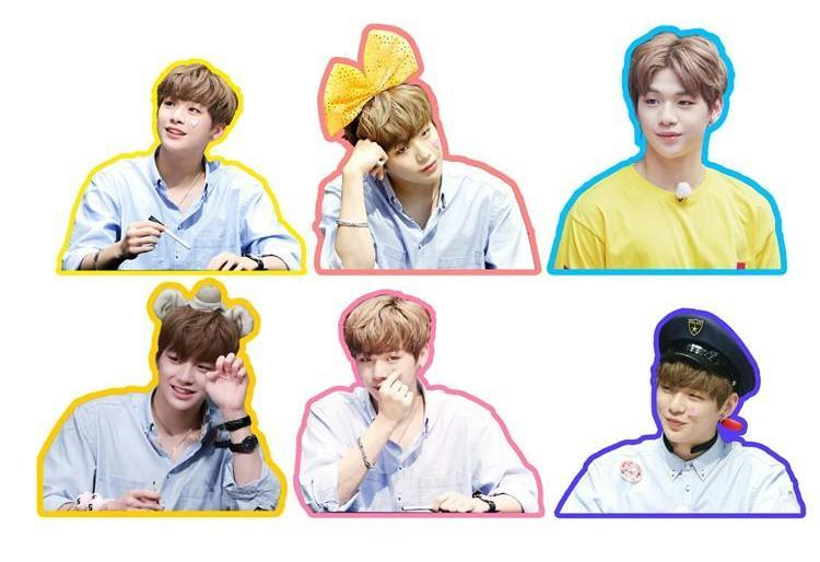 WANNA ONE Daniel Cute Photo Stickers for Scrapbook w/ Multiple Designs 560076065823#3662501798811
