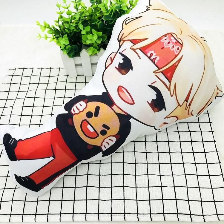 BTS Cartoon-Inspired Members 40CM Humanoid Shaped Pillow / Cushion 573876161996#3750598033685