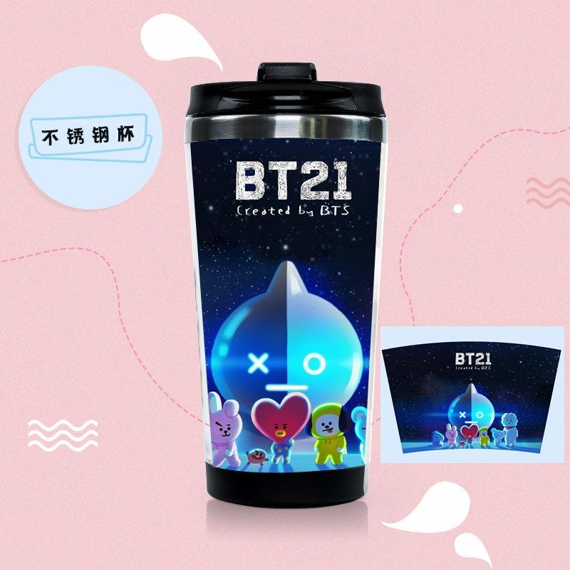 BTS BT21 Characters Design Thermo Hot Tumblr Water Bottle w/ Multiple Designs 563134505609#3711506955065