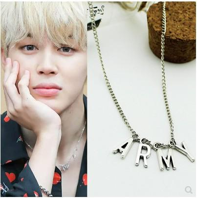 BTS ARMY JIMIN Korean Style Bracelet and Necklace