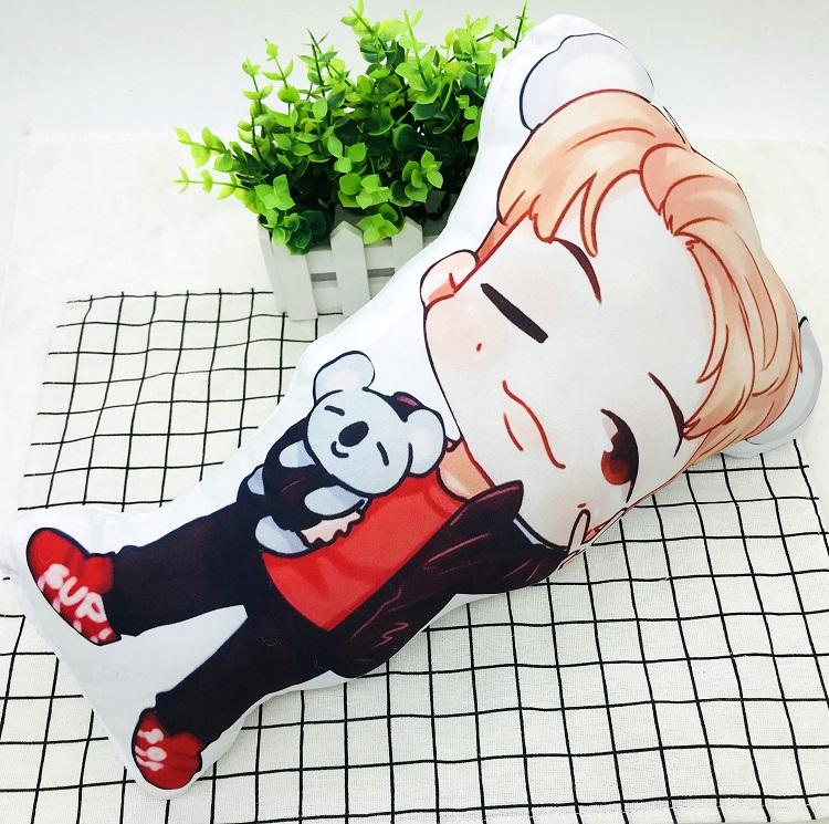 BTS Cartoon-Inspired Members 40CM Humanoid Shaped Pillow / Cushion 573876161996#3750598033684