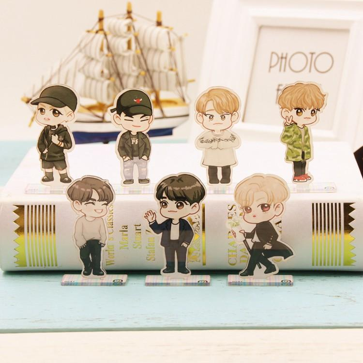 GOT7 Cartoon-Inspired Full Body Members Model Acrylic Stand