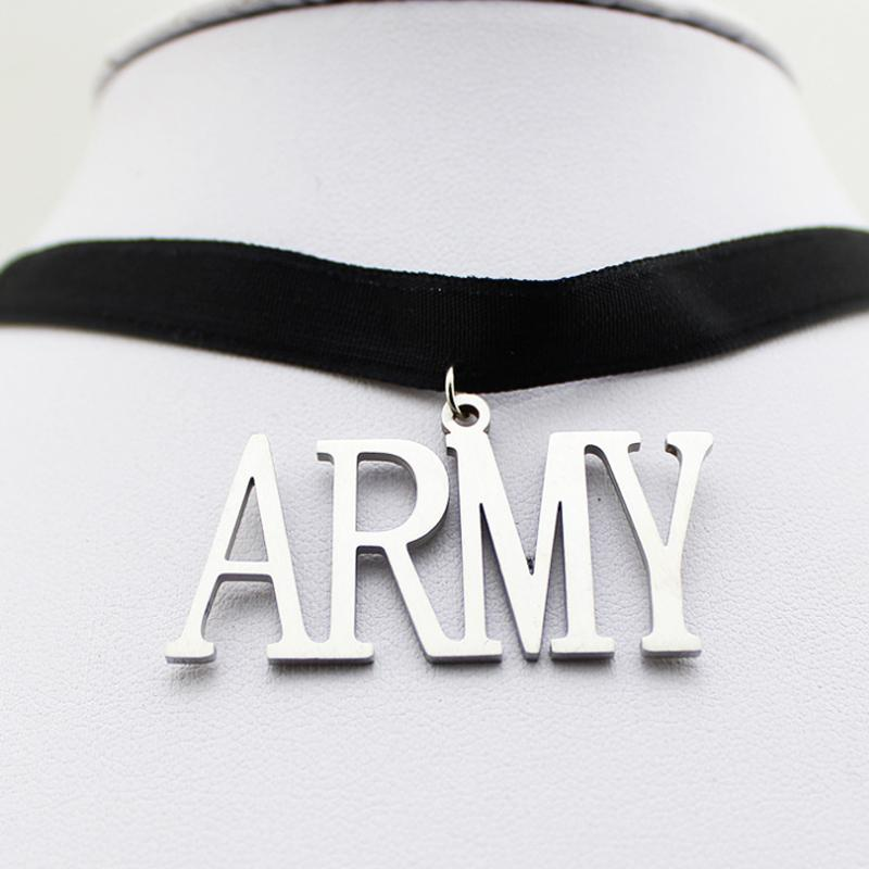 BTS Simple Black ARMY Choker / Necklace