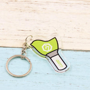 GOT7 Bird Lightstick with Member Names Double-Sided Acrylic Keychain