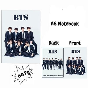 BTS A5 Diary Notebook w/ 3 Designs 572312547372#3717544201293