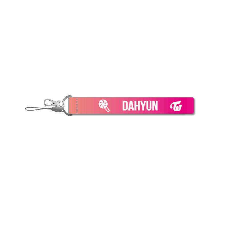 TWICE Pink Name Strip Keychain Lanyard 560275448650#3667178502802