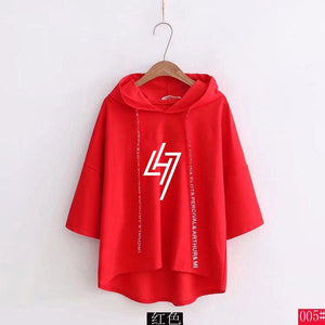 EXO Luhan LH7 Restart Logo Korean Style Loose Cut Short Sleeve Hoodie 3 Colours 574351559149#3753340320005 574351559149#3753340320004 574351559149#3753340320001 574351559149#3753340320003 574351559149#3753340320002