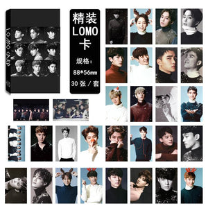 EXO THE WAR Collective and Individual Members PVC Lomo Cards 30pcs/set w/ Multiple Designs 559210528059#3650003046623