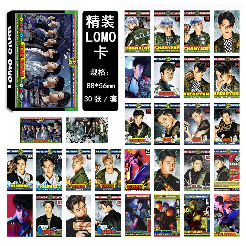 EXO THE WAR Collective and Individual Members PVC Lomo Cards 30pcs/set w/ Multiple Designs 559210528059#3650003046618