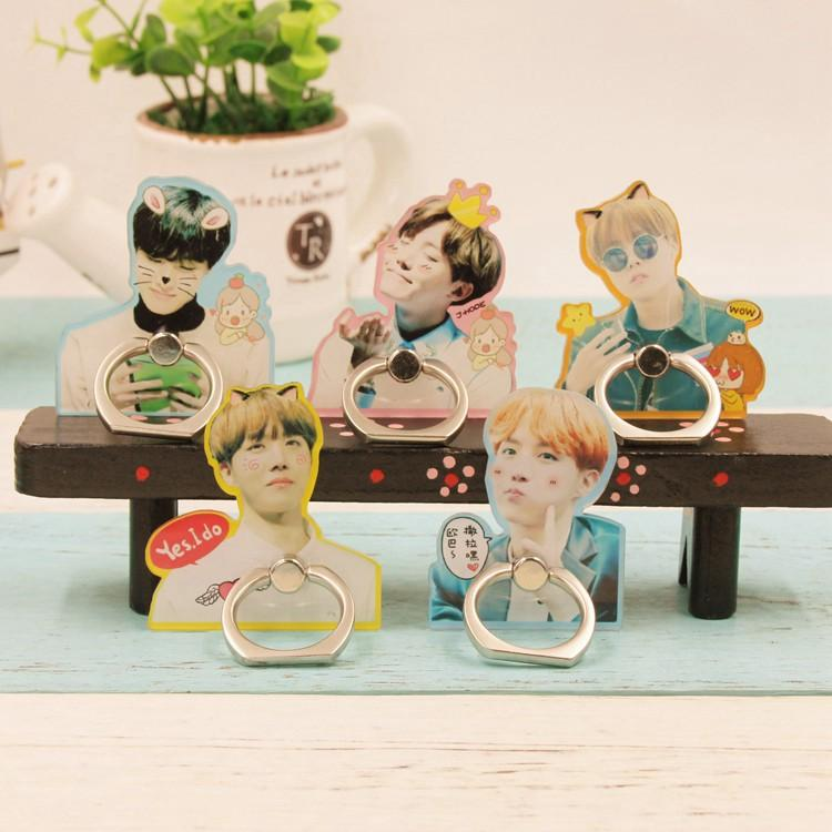 BTS Cute JungKook and J-Hope Mobile Phone Ring w/ Multiple Designs